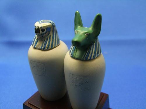 """大英博物館盒玩 """"THE BRITISH MUSEUM"""" """"CANOPIC JARS OF NESKHONS FAL ..."""