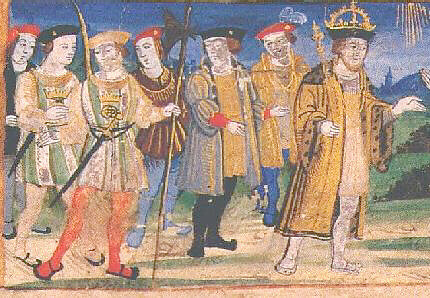 C1520 Henryviii Nobles And Servants C 1520 Drawing Of