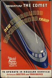 Presenting the comet. New streamlined air-conditioned train | by Boston Public Library