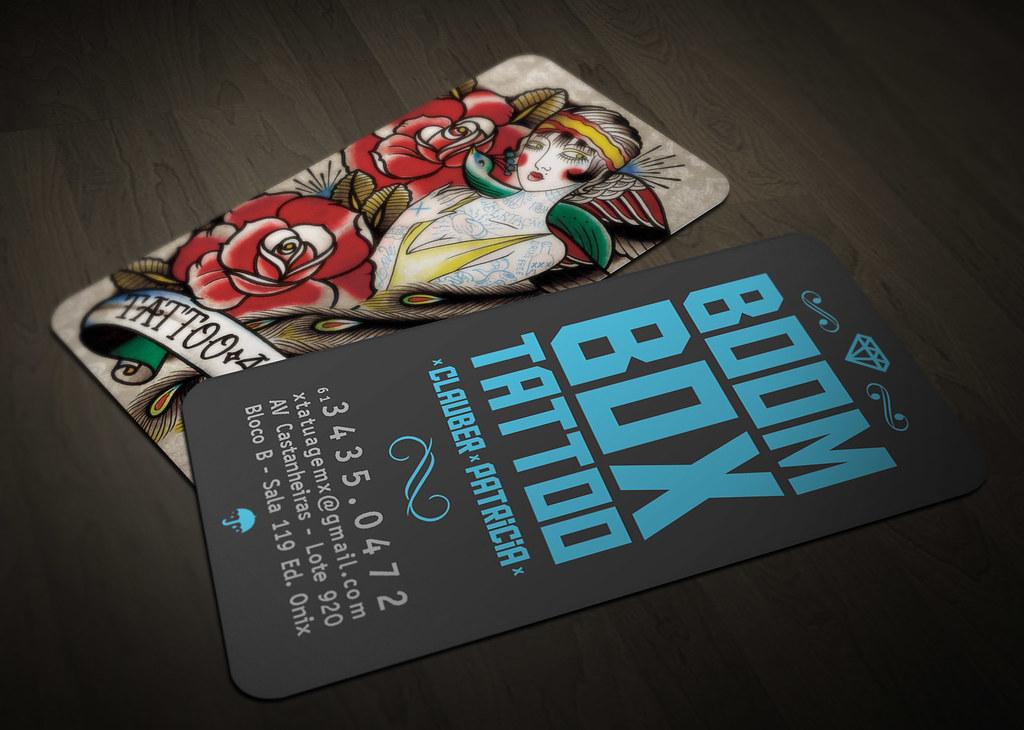 Boom Box Tattoo - Business Card | Wellington Oliveira da Mota | Flickr