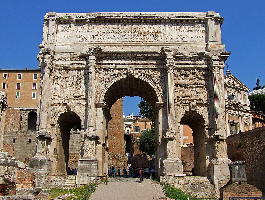 Arch of Septimius Severus, Rome | Built in AD 203 to ...