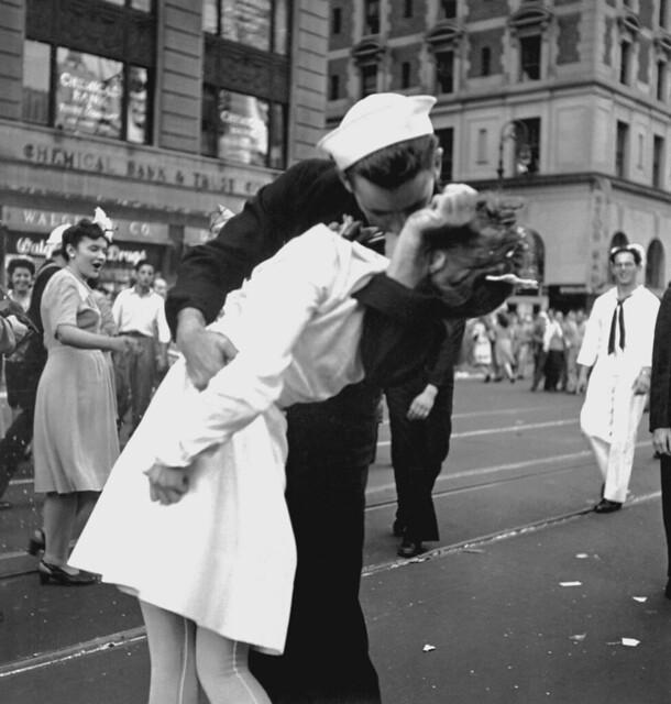 National Kiss And Makeup Day: Public Domain: WWII: VJ Day Kiss (HD-SN-99-03017 DOD/NARA