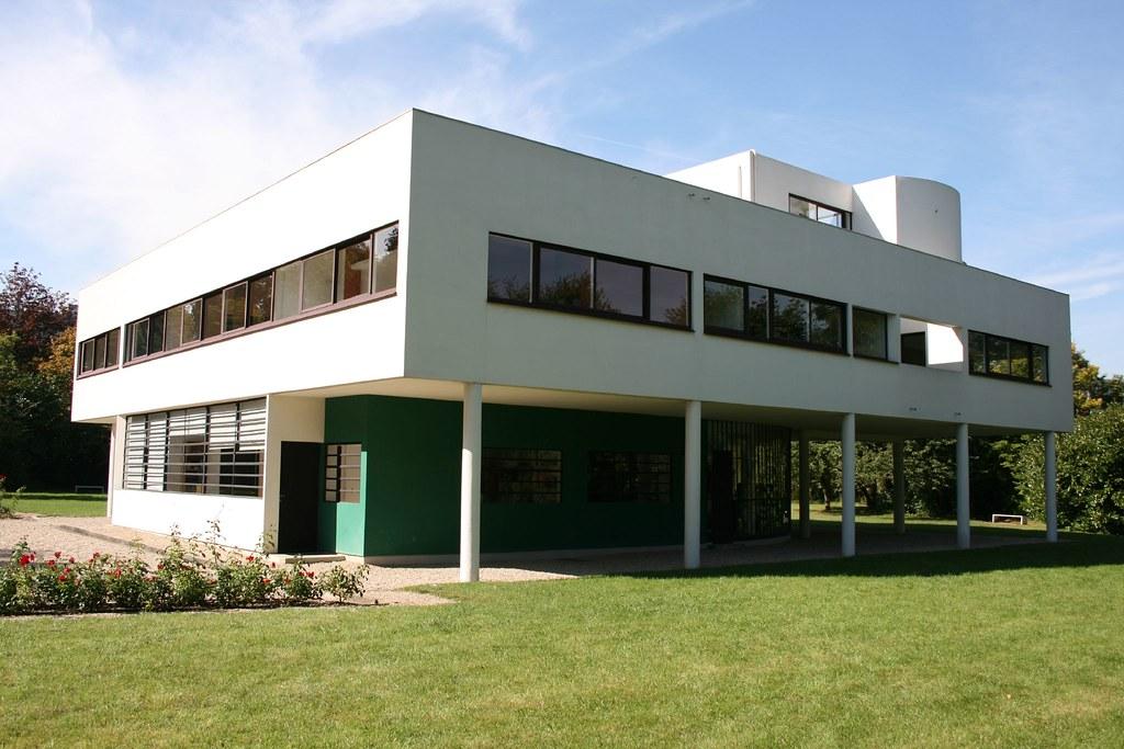 Villa savoye exterior of villa savoye by le corbusier and flickr - Le corbusier villa savoye ...