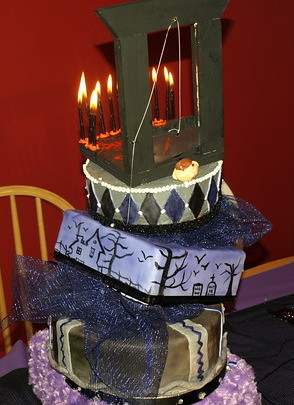 Addams Family Topsy Turvy First Topsy Turvy Cake I Made