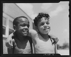 African American Boys At Swimming Pool Children