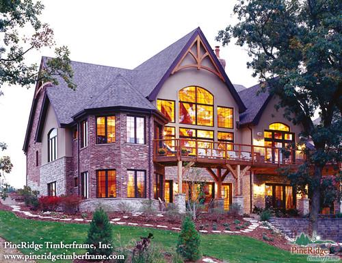 Custom Timber Frame Home Pineridge Timberframe The