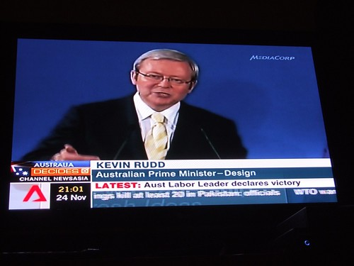 Kevin Rudd wins 2007 Australian federal elections! | by rubenerd