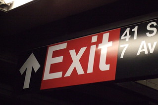 Subway Exit Sign | by heathbrandon