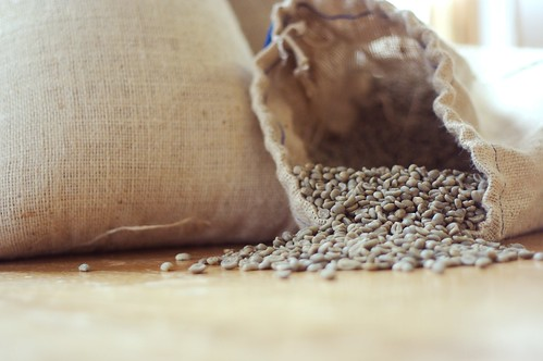 Burlap sack of green coffee | by DeaPeaJay