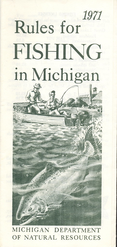 1971 michigan vintage fishing license law digest guide for Fishing license mi