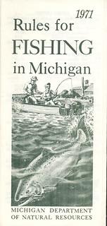 1971 michigan vintage fishing license law digest guide for Michigan fishing license online