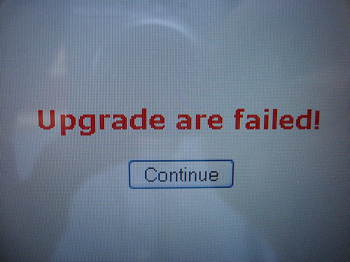 Upgrade are failed! | by Collin Anderson