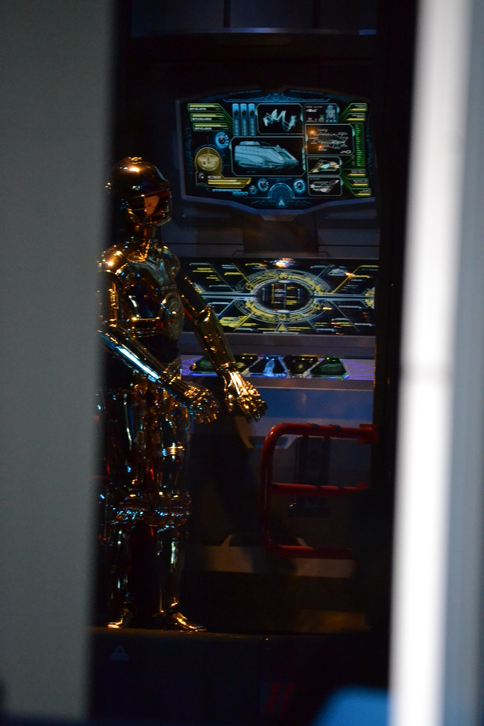 View of c 3po in the star tours the adventures continue q flickr