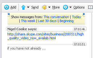 how to delete chat history on new skype