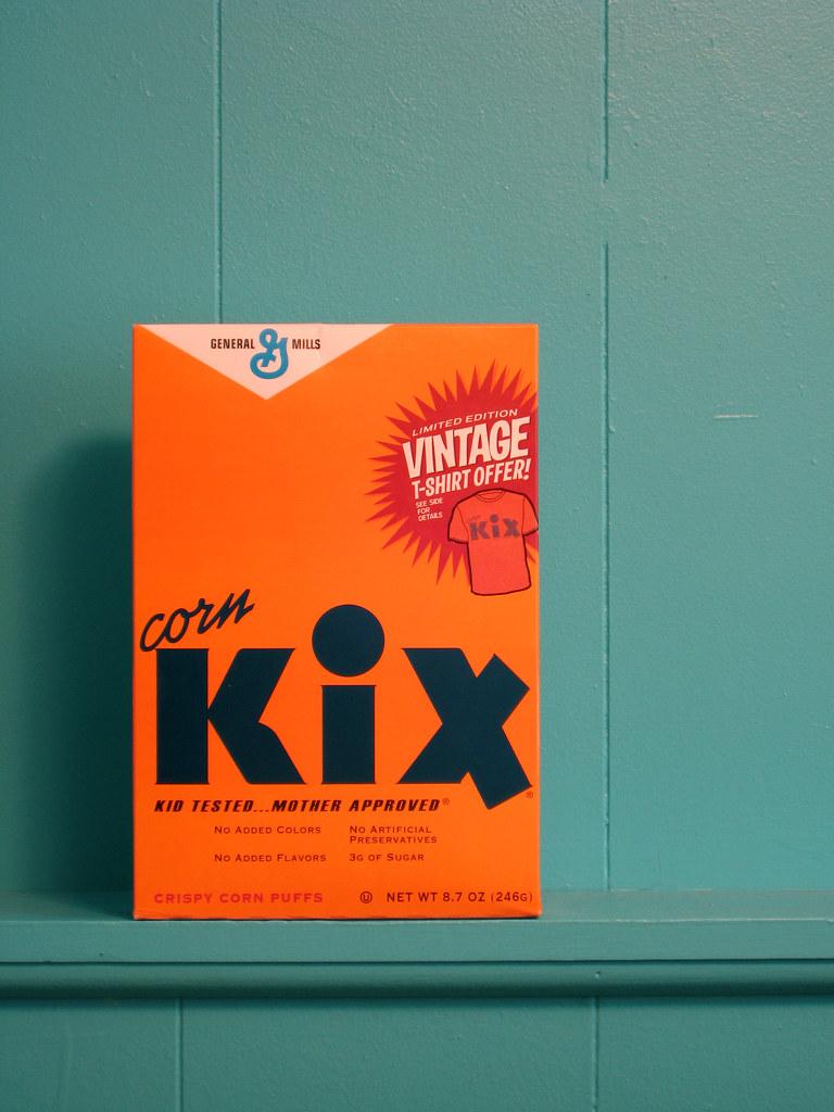 Vintage Kix Cereal Box I Saw This Vintage Throwback