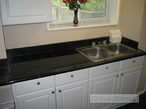 Black Tile Kitchen Table