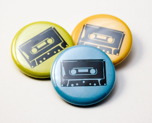 Cassette Tape buttons | by jnhkrawczyk
