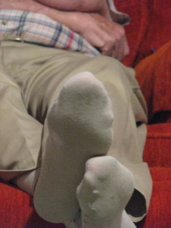 Fat German Grandfather Gets A Footjob