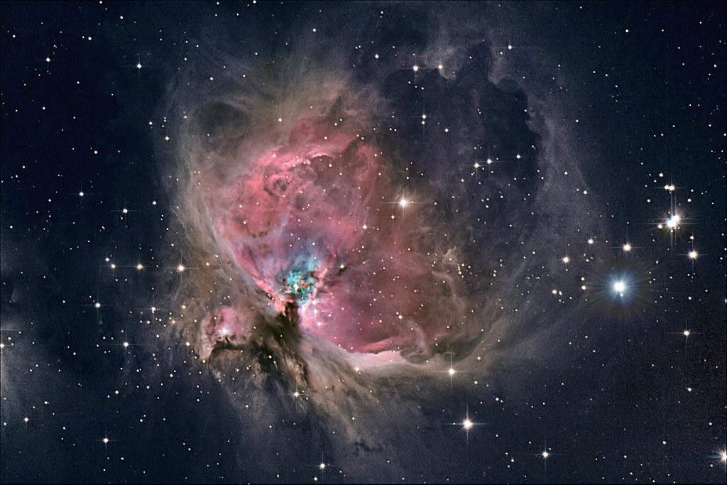 orion nebula in night sky - 1024×683
