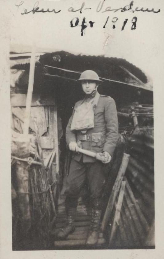 Clifton B. Cates at Verdun, France, April 1918