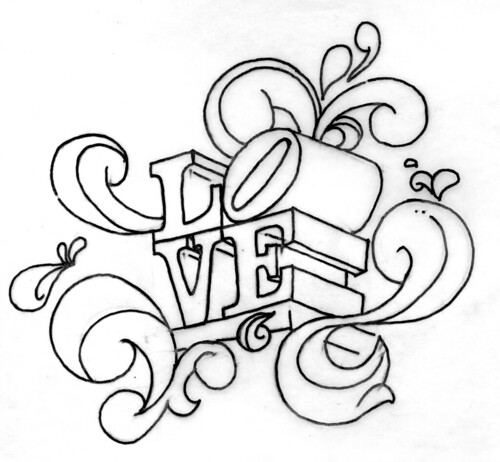 Line Drawing Love : Love line art just a doodle of the statue