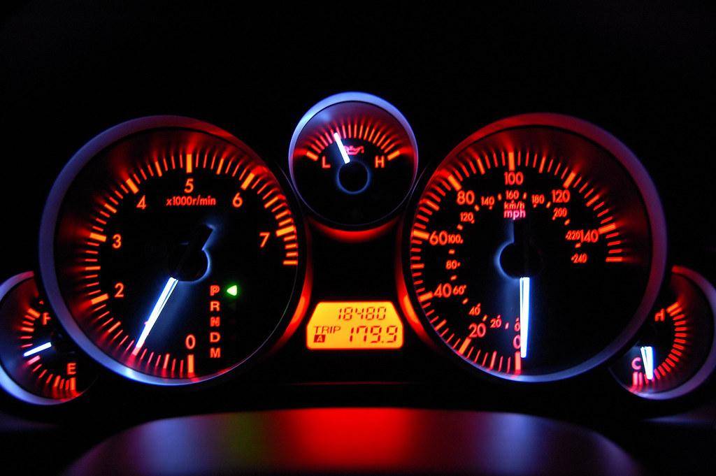 Mazda Mx5 Miata My Dash Lights At Night Makes A Cool