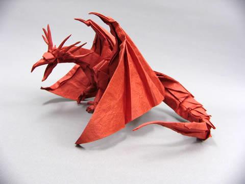 Satoshi Kamiya Red Dragon Origami