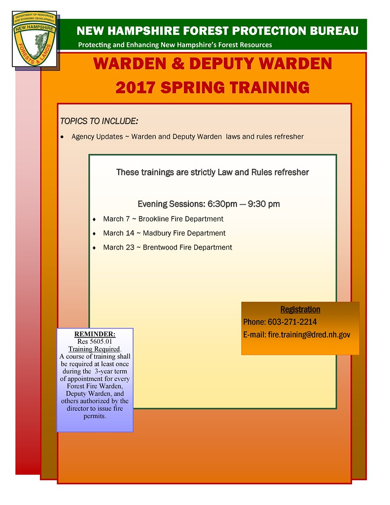 2017 Spring Training Warden Law Refresher  Announcement-page-0