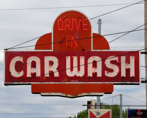IL, Springfield-U.S. 66(Old) Drive In Car Wash Neon Sign | by Alan C of Marion,IN