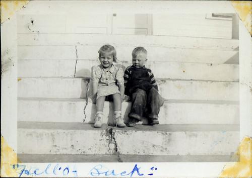 Sheba Ann and Bobby Earl on steps