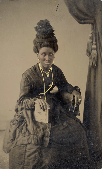 Tintype Black Woman With Wonderful Hat Even Though The