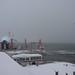 津軽海峡雪景色