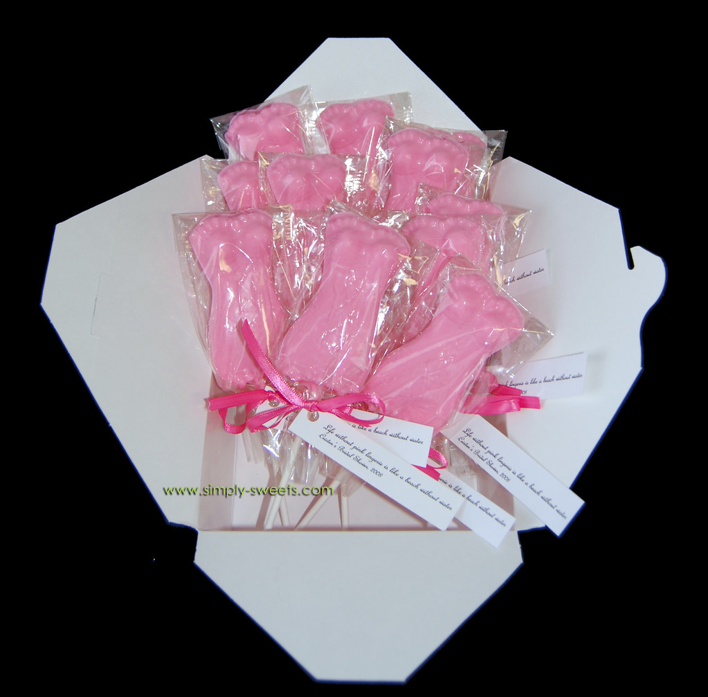 pink lingerie bridal shower favors | Read more about our cre… | Flickr