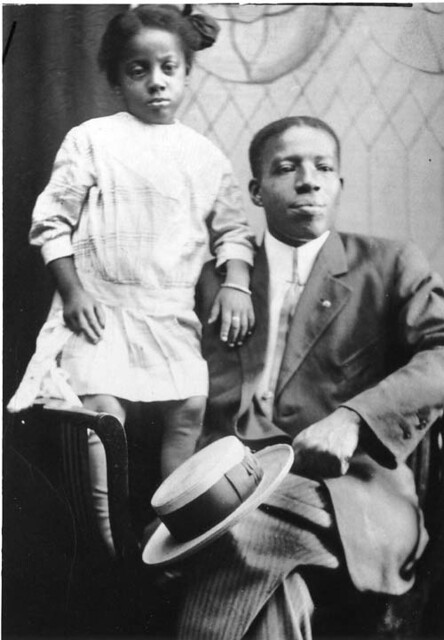 african american man and child african american man