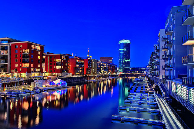 frankfurt am main germany the blue hour at our. Black Bedroom Furniture Sets. Home Design Ideas