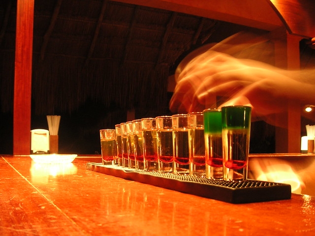 how to make a mexican flag shot