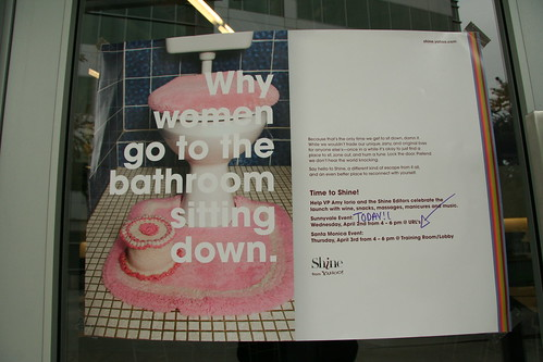 """Why do women go to the bathroom sitting down?   """"Because ..."""