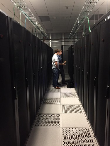Hard at work in the data center! | by bluetowne