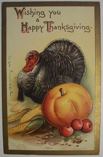 Vintage Thanksgiving Day Postcard | by riptheskull