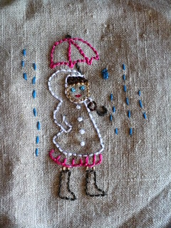 Embroidered Girl with Umbrella | by binah06