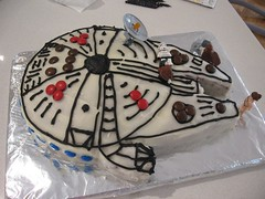 Millenium Falcon birthday cake | by SuzetteH