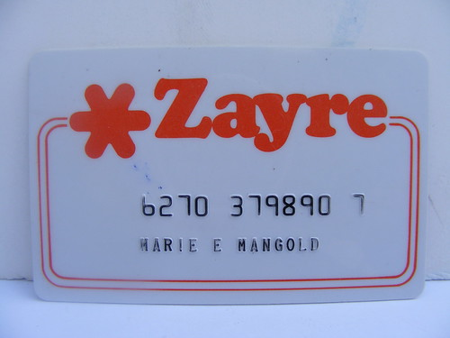Zayre Credit Card! | by slade1955