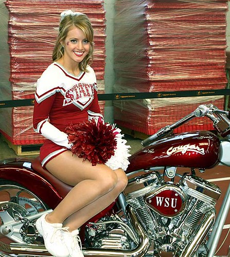Wsu-Cheerleader-Motorcycle  A Hot Cheer Girl On A Motor -4847