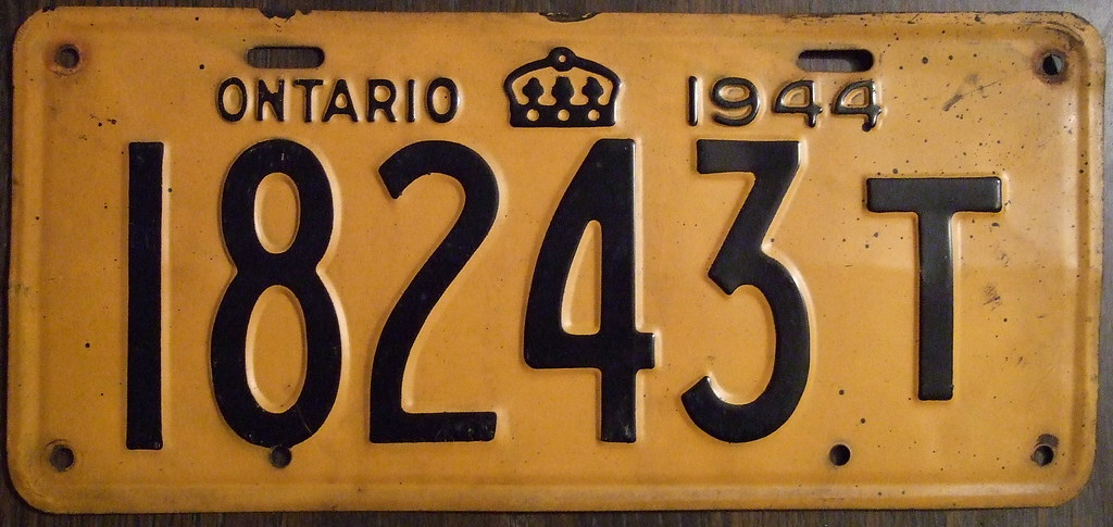 License Plate Camera >> ONTARIO 1944 license plate NON-PASSENGER plate | Most 1943 O… | Flickr