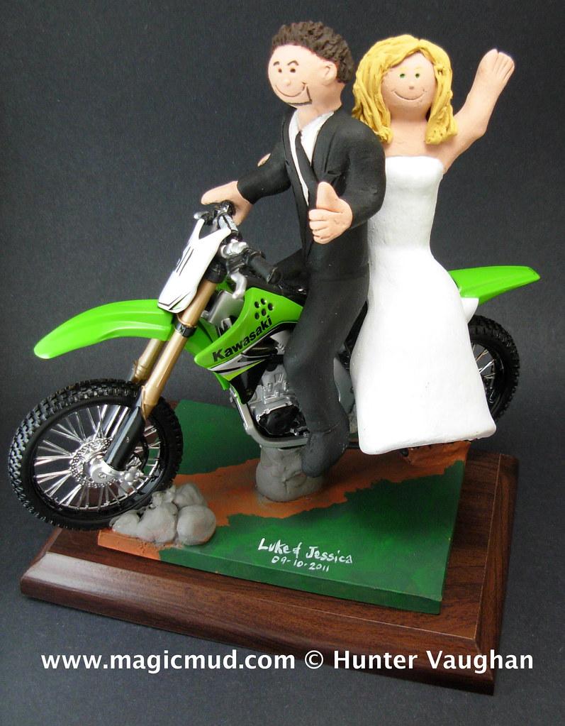 Kawasaki Dirt Bike Wedding Cake Topper | www.facebook.com/Pe… | Flickr