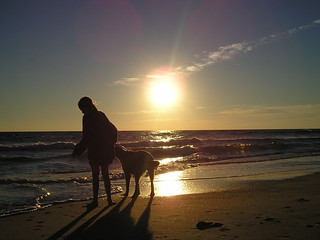 Lane and Sadie in the morning at Nags Head | by atypical normalcy