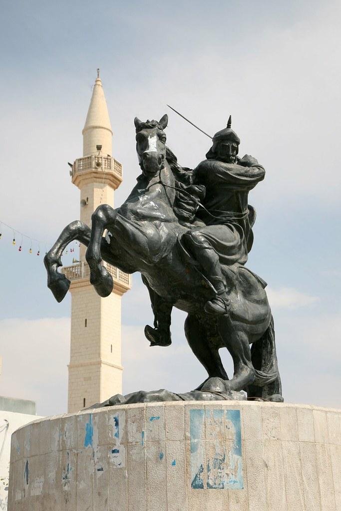 Saladin statue   Kerek town square Saladin rescued Kerek ...