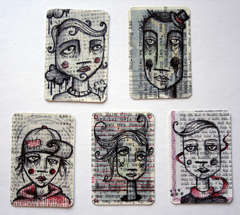 art cards for lmnop | by sylvie LS