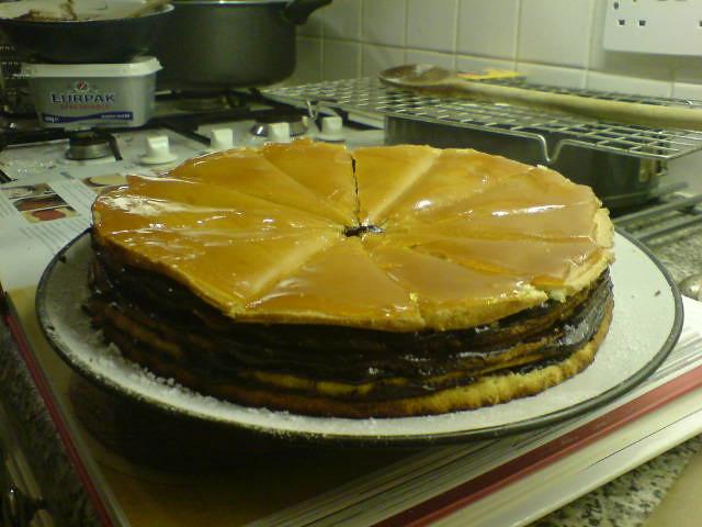 Jam Between Cake Layers