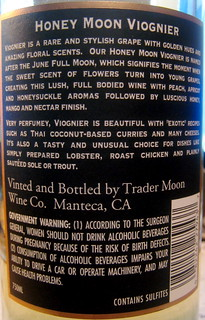 "Trader Moon 2006 ""Honey Moon"" Viognier (back) 